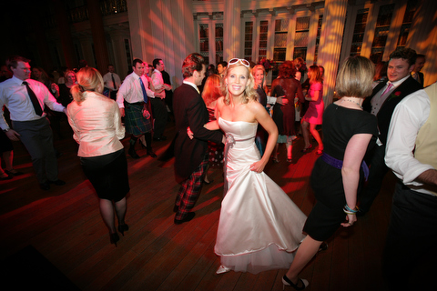 Bride and Groom dancing ceilidh ©firstlightweddings.co.uk